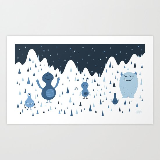 In the Middle of the Night Art Print