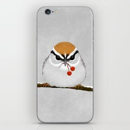 Chipping Sparrow on a Branch iPhone Skin