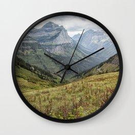 Splendor from Highline Trail - Glacier Wall Clock