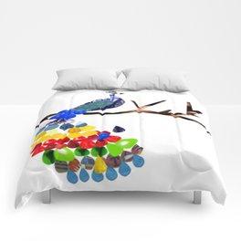 pavo real Comforters