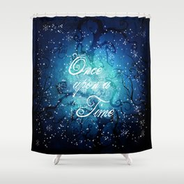 Once Upon A Time ~ Winter Snow Fairytale Forest Shower Curtain