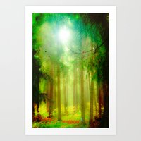 fairy tale Art Prints featuring Fairy tale by Armine Nersisian