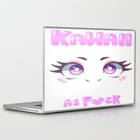 kawaii Laptop & iPad Skins featuring KAWAII by s3tok41b4