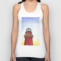 lighthouse Tank Tops featuring Lighthouse by Jackie Sullivan