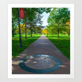 Ohio State Campus Seal Oval Art Print