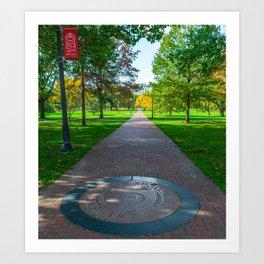 Ohio Campus Seal Oval Art Print
