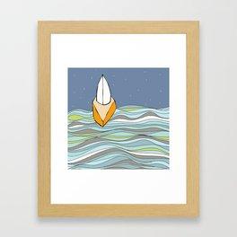 Night Sailing on Casco Bay Framed Art Print