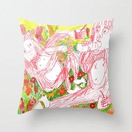 picnic flower Throw Pillow