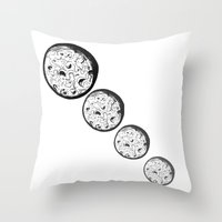 moonrise Throw Pillows featuring Moonrise by Destiny Davison
