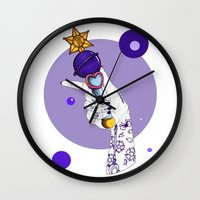 saturn Wall Clocks featuring Saturn by scoobtoobins