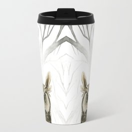 Hibou -- Great Horned Owl in Forest Travel Mug