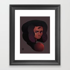 Garnet 3-eye portrait Framed Art Print