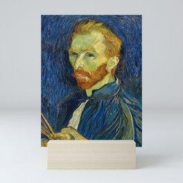 Vincent Van Gogh Self Portrait With Palette Mini Art Print