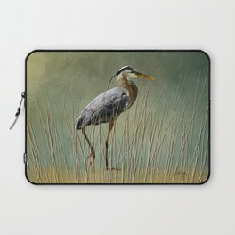 Great Blue At The Beach Laptop Sleeve