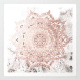 Dreamer Mandal Rose Gold Art Print
