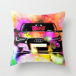 A6 Avant Watercolor Throw Pillow