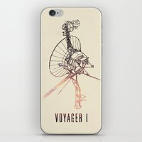 nasa iPhone & iPod Skins featuring VOYAGER ONE - Space | Time | Science | Planets | Travel | Interstellar Mission | NASA by Mike Gottschalk