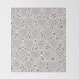 Taupe Textured Pattern Design Throw Blanket