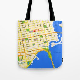 Map of Pensacola, FL - East Hill Christian School Tote Bag