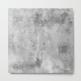 Simply Concrete Gray- Mix and Match with Simplicity of Life Metal Print