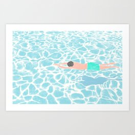 SWIMMING ALONE Art Print