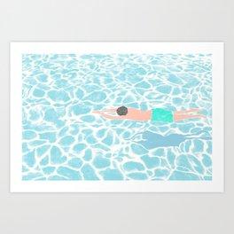 SWIMMING ALONE Art Print