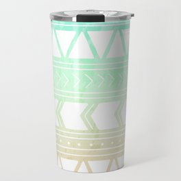 Sherbet Geometric Pattern Travel Mug