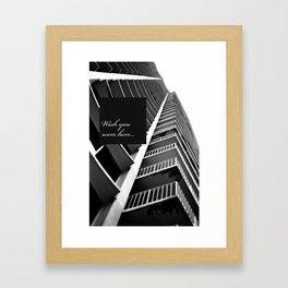 Wish You Wehe Here... #1 Framed Art Print