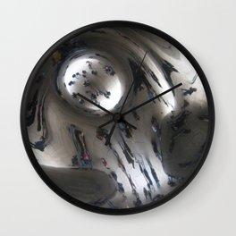 Chicago Bean Swirl Wall Clock