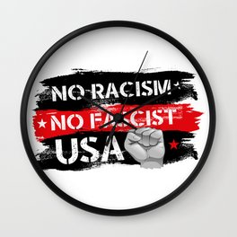 No Racism Wall Clock