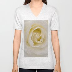 Rose White Unisex V-Neck