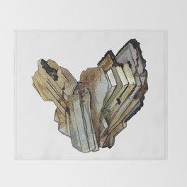 Vintage Rock Crystal Throw Blanket