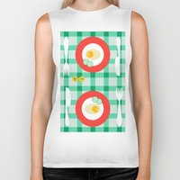 breakfast Biker Tanks featuring breakfast by vitamin