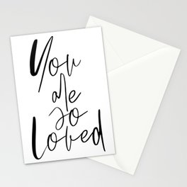 You Are So Loved, Typography Wall Art, Quote Poster, Printable Art, Modern Wall Decor Stationery Cards