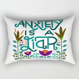 Anxiety is A Liar (teal) Rectangular Pillow