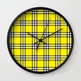 As If Plaid Wall Clock