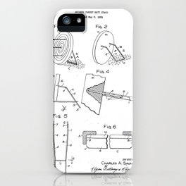 Archery Target Matt Stand Vintage Patent Hand Drawing iPhone Case