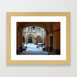 Cozy patio in Odessa. Ukraine. Framed Art Print