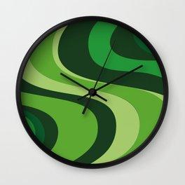 70's Green Vibe Wall Clock