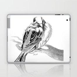Cute Fluffy Bird Sleeping Laptop & iPad Skin