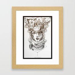 """""""In Her Head"""" Framed Art Print"""