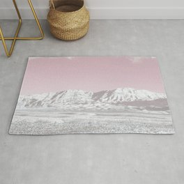 Mojave Snowcaps // Las Vegas Nevada Snowstorm in the Red Rock Canyon Desert Landscape Photograph Rug