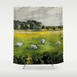 Irish Sheep Shower Curtain