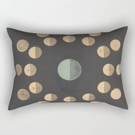 Antique Astronomy Moon Phases Rectangular Pillow