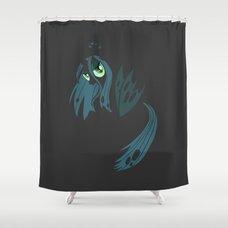 ... My Little Pony   Minimal Queen Chrysalis Shower Curtain ...