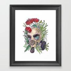 Poppy Gas Mask - Colorfull Framed Art Print