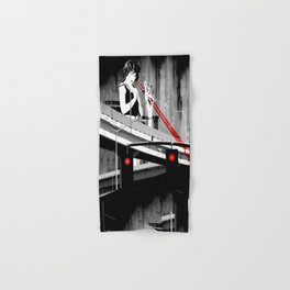 Stop the Freeway Overpass Scales Madness! Hand & Bath Towel
