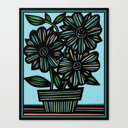 Art, Print, Art Print, Drawing Flowers, Home Decor, Print Botanical, Drawing Flowers, Line Drawing F Canvas Print