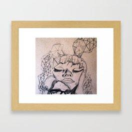 Experimental Faces Framed Art Print