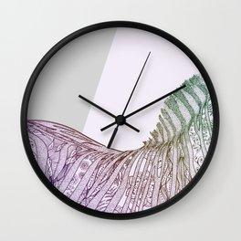 Colorful Boho Mandala Zebra Design Wall Clock